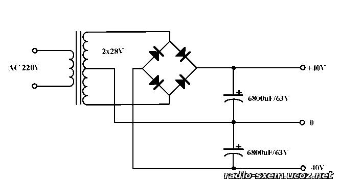 Схемы усилителей мощности на транзисторах, самодельные УНЧ ...